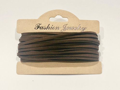 10m Sienna Faux Coconut Brown  Cord  String Jewellery Making Bracelet Neckl
