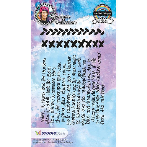 Studio Light Mixed Media Rainbow Designs Stamps