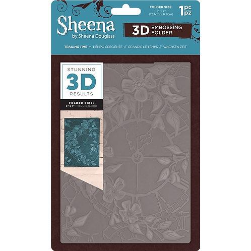 "3D Embossing Folder by Sheena Douglas ""Trailing Time"" 5x 7"""