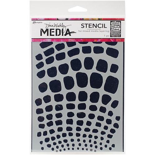 "Dina Wakley Media Stencils 9""X6"" Scales"