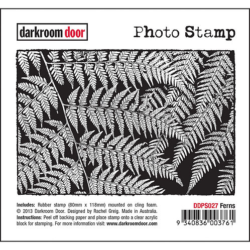 """Ferns"" - Darkroom Door Photo Rubber Stamp"