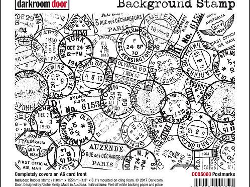 """Darkroom Door - """"Postmarks""""   Background Rubber Stamp"""