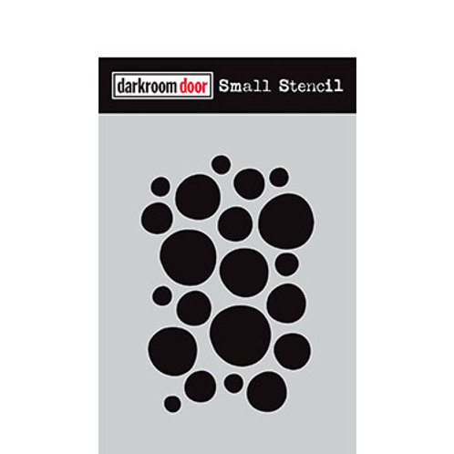 "Darkroom Door Stencil - ""Arty Circles""   4.5"" x 6"""