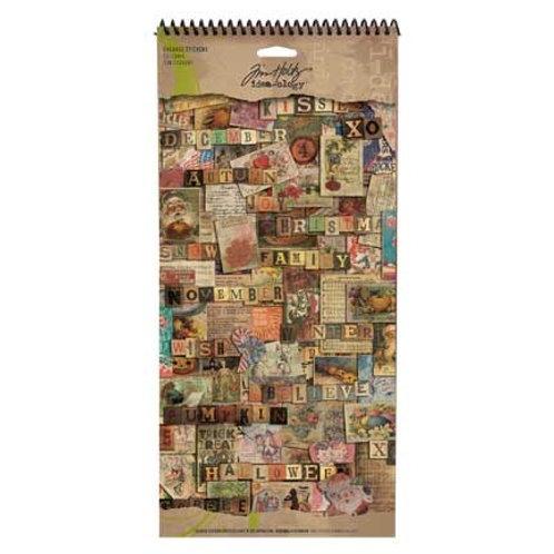 Tim Holtz Salvage Stickers -Seasonal Sticker 138 pieces