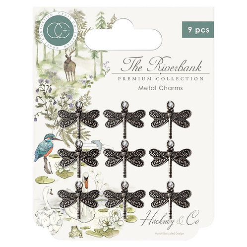 Craft Consortium Farm Meadow Metal Charms 9/Pkg Dragonfly Charms