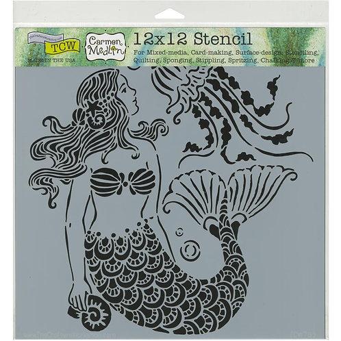"TCW 12x12 Stencil ""Mermaid Dreams"""