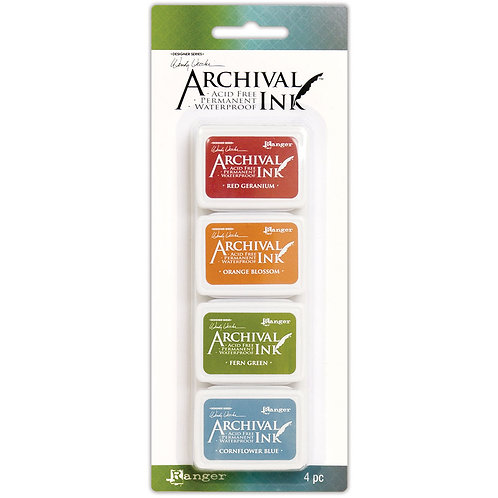 Distress Archival Ink 4pc Mini Ink Pads by Ranger KIT 4