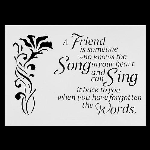 A4 Stencil Cute Friend Sing & Song