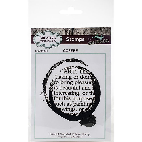 Coffee Creative Expressions Rubber Stamp By Andy Skinner