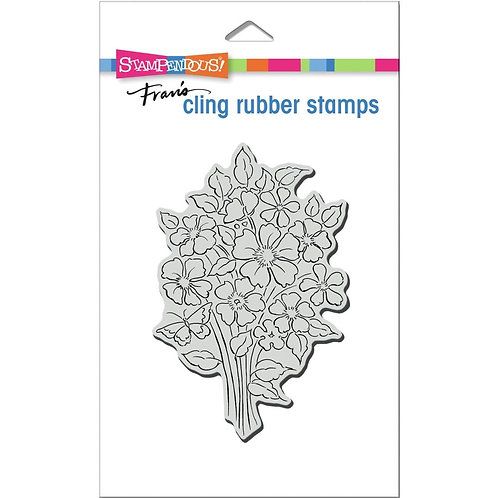 Bouquet Blooms  Stampendous Cling Mount Rubber Stamps