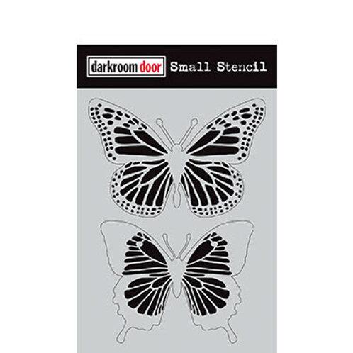 """Darkroom Door Stencil - """"Butterflies""""   4.5"""" x 6"""""""