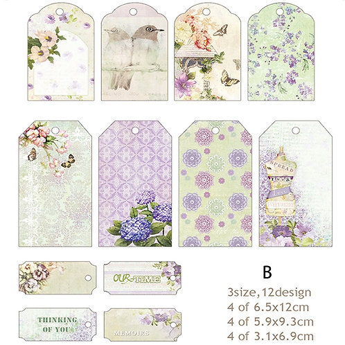 Fancy Tag Pack - 12 tags