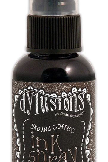 """RANGER-Dylusions by Dyan Reaveley: Ink Spray.""""Ground Coffee"""""""