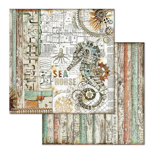 """Seahorse Stamperia Double Sided 12"""" x12"""" Paper   1"""