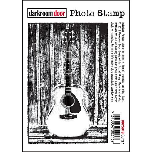 """""""Guitar"""" - Darkroom Door Photo Rubber Stamp"""