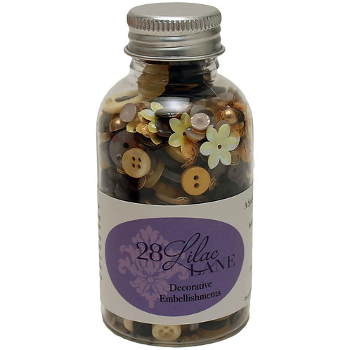 Lilac Lane bottle of Buttons 75g