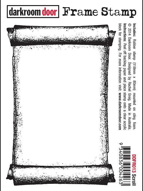 "Darkroom Door Frame Stamp - ""Scroll"""