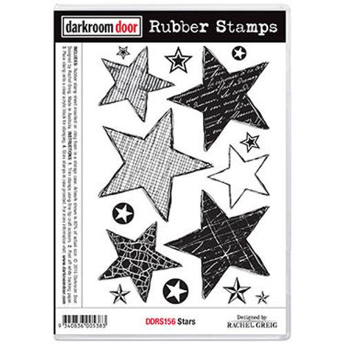 """Darkroom Door - """"Stars""""  Rubber Stamp"""