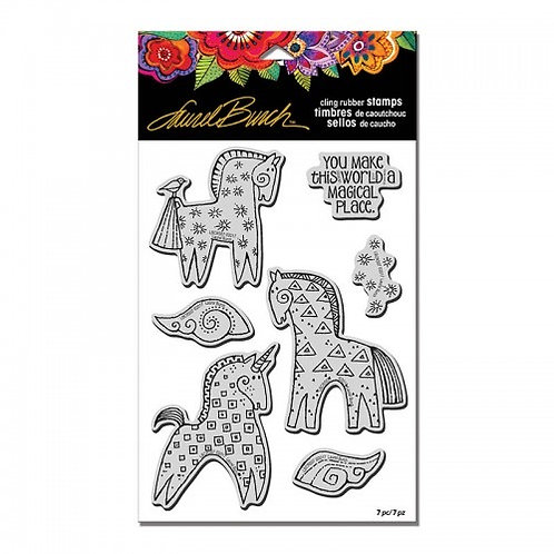 Magical Horses Stampendous Cling Mount Rubber Stamps