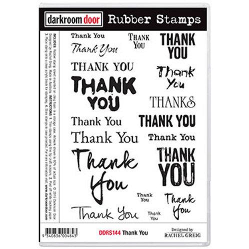 """Darkroom Door - """"Thank You""""  Rubber Stamp"""