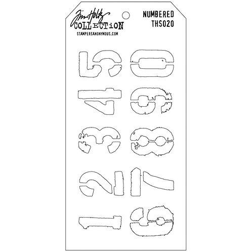 "Tim Holtz Layering Stencil ""Numbered"""