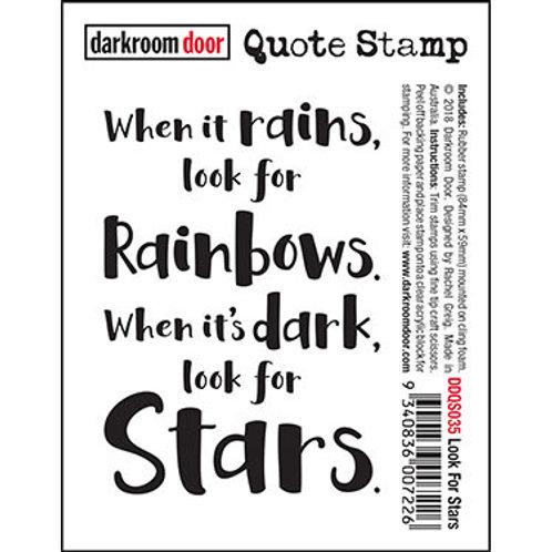 """Darkroom Door - """"Look for Stars"""" Quote Rubber Stamp"""