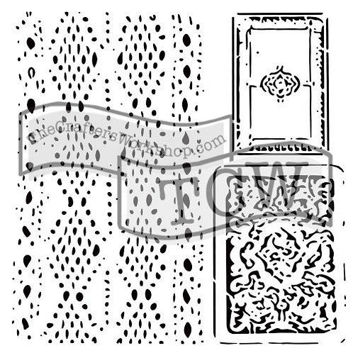 "TCW 12x12 Stencil ""Cards & Lace"""