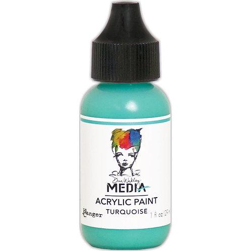 """Dina Wakley Media Acrylic Paint 1oz """"Turquoise"""""""