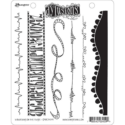 """Dyan Reaveley's Dylusions Cling Stamp  8.5""""X7""""Bordering on the Edge"""""""