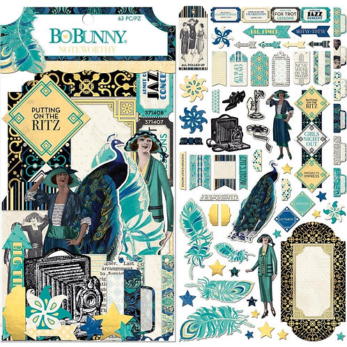 BoBunny - Something Splendid Noteworthy Die-Cuts 63/Pkg