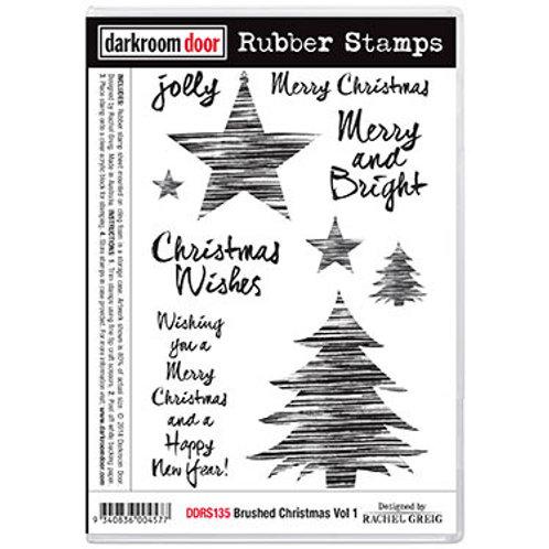 """Darkroom Door - """"Brushed Christmas"""" Vol 1 Rubber Stamp"""
