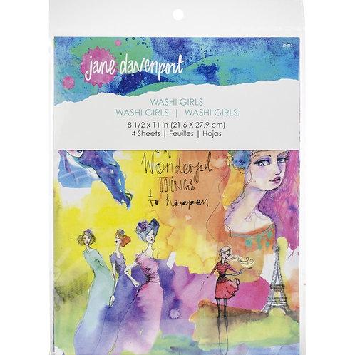 """Jane Davenport Artomology Washi Sheets 4/Pkg"""" Sheet"""