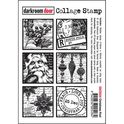 """""""Christmas Post"""" - Darkroom Door Collage Stamp"""