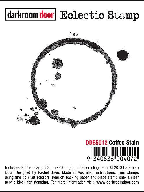 """Darkroom Door - """"Coffee Stain"""" Eclectic Rubber Stamp"""