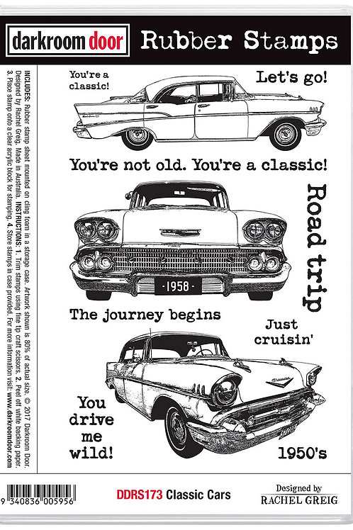 "Darkroom Door - ""Classic Cars Vol 1""  Cling Rubber Stamp"