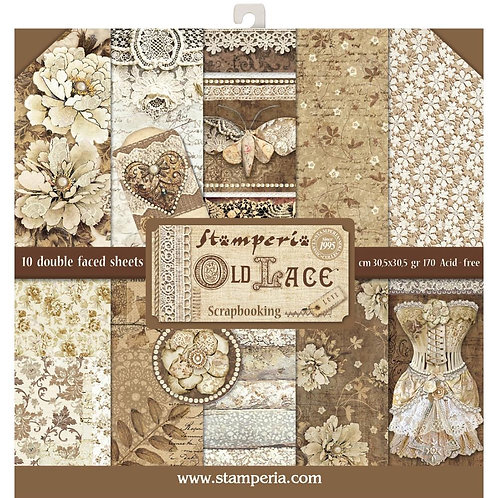 """Stamperia 12"""" x12"""" Paper pack """"Old Lace"""""""