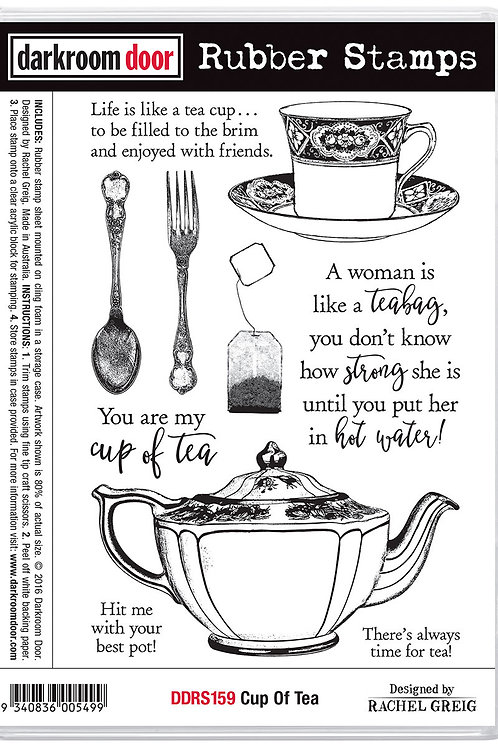 """Darkroom Door - """"Cup Of Tea""""  Cling Rubber Stamp"""