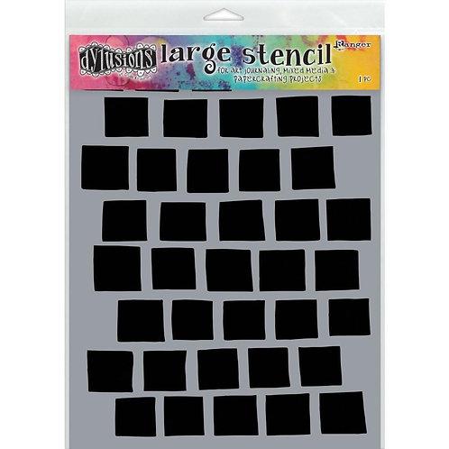 """Dyan Reaveley's Dylusions Stencils 9""""X12"""" """"Grid"""""""