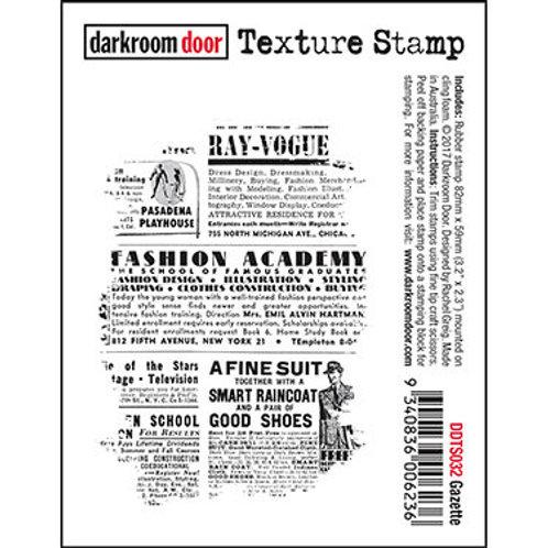 """Darkroom Door - """"Gazette"""" Texture Rubber Stamp"""