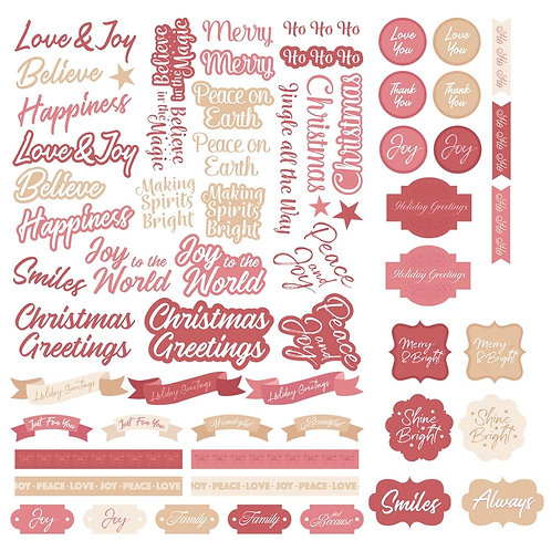 Diecut Sentiments Set - The Gift of Giving - Assorted Sizes