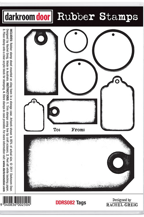 "Darkroom Door - ""Tags""  Cling Rubber Stamp"