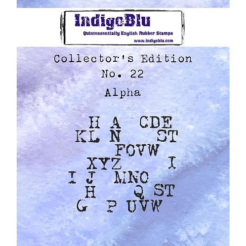 """Alpha"" 2"" x 2"" Rubber Stamp"