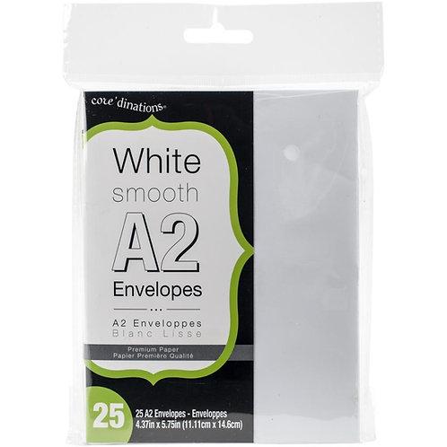 Darice-Smooth A2 Envelopes: White. 25/Pkg