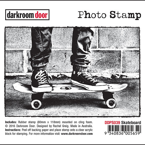 "Darkroom Door - ""Skateboard"" Photo Rubber Stamp"