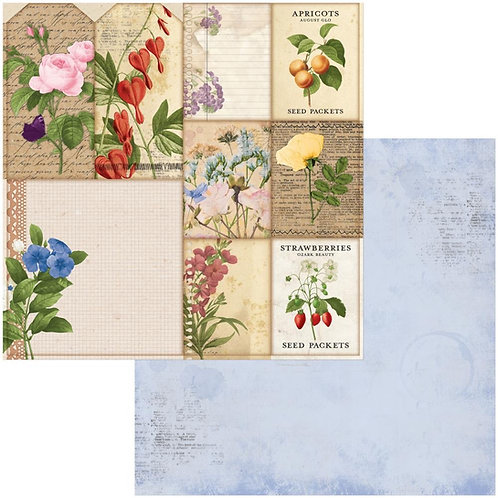 """BoBunny Botanical Journal Packets Double-Sided Cardstock 12""""X12"""""""