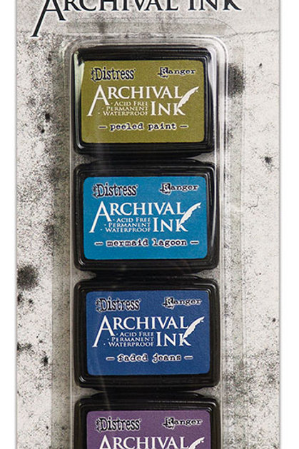 Distress Archival Ink 4pc Mini Ink Pads by Ranger