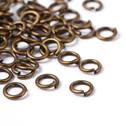 5mm Antique Bronze Open Jump Rings -  100 piecs.