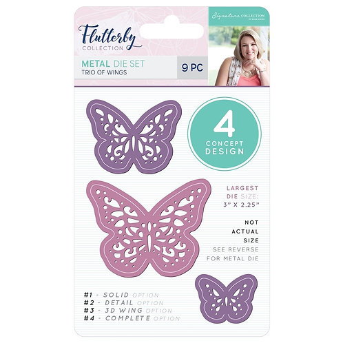 """""""Trio of Wings""""  Metal Cutting Dies by Crafters Companion"""