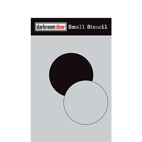 "Darkroom Door Stencil - ""Circle Set""   4.5"" x 6"""