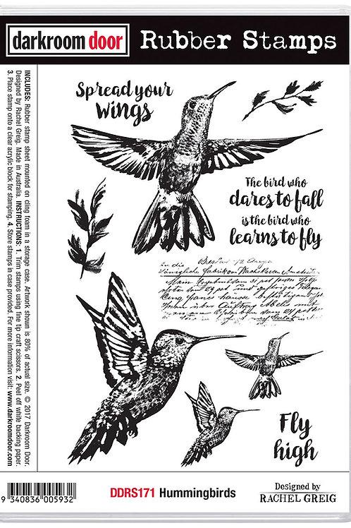"""Darkroom Door - """"Hummingbirds""""  Cling Rubber Stamp"""